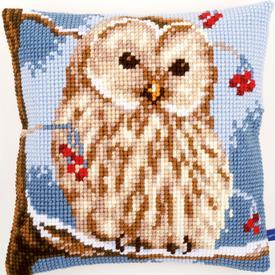 Winter Owl - Vervaco Kruissteekkussen |  | Artikelnummer: vvc-155143