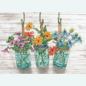 Flowering Jars - borduurpakket met telpatroon Dimensions |  | Artikelnummer: dim-70-35378