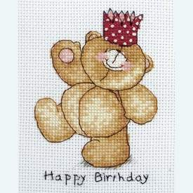 Happy Birthday - Forever Friends borduurpakket met telpatroon - Coats Crafts |  | Artikelnummer: cts-frc220