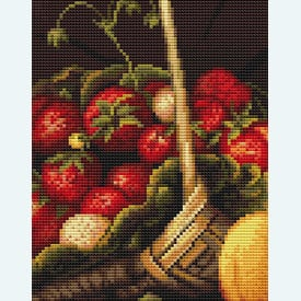 Basket with Strawberries - handwerkpakket met telpatroon Luca-S |  | Artikelnummer: luca-b487