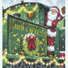 Santa Express  - borduurpakket met telpatroon Dimensions |  | Artikelnummer: dim-70-08918