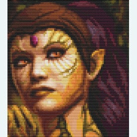 Dragon Lady - Borduurpakket met telpatroon Orcraphics      Artikelnummer: orc-2016-09-02