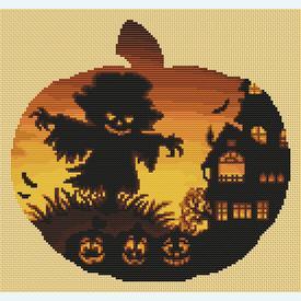 Pumpkin Farm - Borduurpakket met telpatroon Orcraphics |  | Artikelnummer: orc-2019-02-52