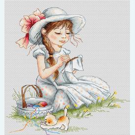 Embroidery - handwerkpakket met telpatroon Luca-S |  | Artikelnummer: luca-b1059