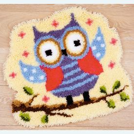 Funny Owlet on a Branch - knooptapijt Vervaco | Smyrna tapijt met uil | Artikelnummer: vvc-145671