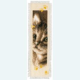 Set van 2 bladwijzers - Cat and Dog - Handwerkpakketten met telpatroon Vervaco |  | Artikelnummer: vvc-155362