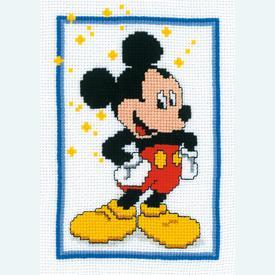 Mickey Mouse - Disney borduurpakket met telpatroon Vervaco |  | Artikelnummer: vvc-14670