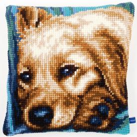 Cute Dog - Vervaco Kruissteekkussen |  | Artikelnummer: vvc-154482