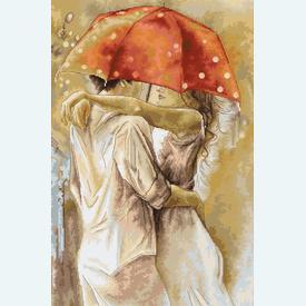 Under the Umbrella - kruissteekpakket met telpatroon Luca-S |  | Artikelnummer: luca-b552