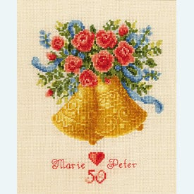 Wedding Bells - borduurpakket met telpatroon Vervaco  |  | Artikelnummer: vvc-45159