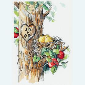 Birds of a Feather - borduurpakket met telpatroon Janlynn |  | Artikelnummer: jl-023.0569