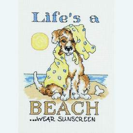 Life's a Beach - borduurpakket met telpatroon Janlynn |  | Artikelnummer: jl-023.0399