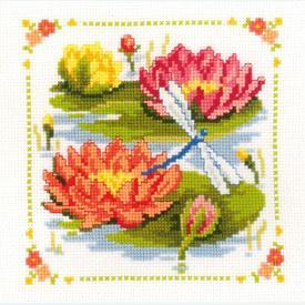 Water Lilies - Kruissteekpakket met telpatroon Vervaco | Gratis onder voorwaarden  | Artikelnummer: vvc-70195-0-100