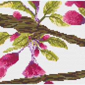 Birds in Flowerbuds - borduurpakket met telpatroon Nafra |  | Artikelnummer: nf-nafra21016