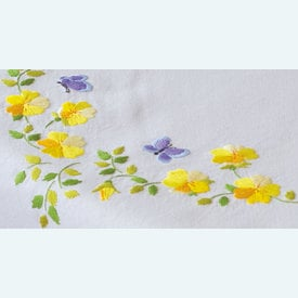Spring Flowers theenap - voorgedrukt borduurpakket - Vervaco |  | Artikelnummer: vvc-162071
