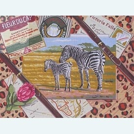 Victoria Falls - bundel van geschilderd stramien + borduurwol, te borduren in halve kruissteek |  | Artikelnummer: rp-142-475-bundel