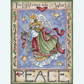 Peace Angel - borduurpakket met telpatroon Letistitch |  | Artikelnummer: leti-991