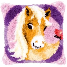 My Sweet Pony - knoopkussen Vervaco | Smyrna kussen met pony | Artikelnummer: vvc-145655