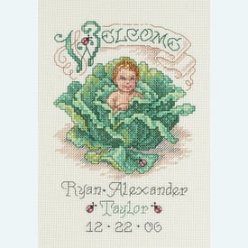 Cabbage Patch Baby Birth Announcement - borduurpakket met telpatroon Janlynn |  | Artikelnummer: jl-023.0440