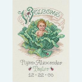 Cabbage Patch Baby Birth Announcement - borduurpakket met telpatroon Janlynn      Artikelnummer: jl-023.0440