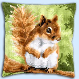 Squirrel - Vervaco Kruissteekkussen |  | Artikelnummer: vvc-157491