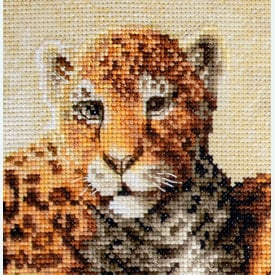 Leopards - borduurpakket met telpatroon Letistitch |  | Artikelnummer: leti-910