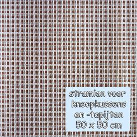 Voorgesneden soudanstramien 50 x 50 cm - voor het maken van een knoopkussen  |  | Artikelnummer: nra-26701