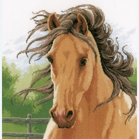 Mane in the Wind - borduurpakket met telpatroon Lanarte |  | Artikelnummer: ln-178867