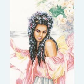 Day-dreaming - borduurpakket met telpatroon Lanarte |  | Artikelnummer: ln-157499