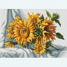 Sunflowers - kruissteekpakket met telpatroon Luca-S |  | Artikelnummer: luca-b2264