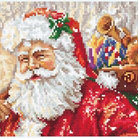 Santa Clause bringing Presents - borduurpakket met telpatroon Luca-S |  | Artikelnummer: luca-b575