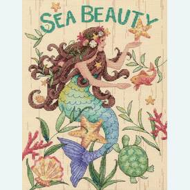 Sea Beauty - borduurpakket met telpatroon Dimensions |  | Artikelnummer: dim-70-35376