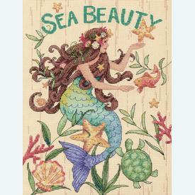 Sea Beauty - borduurpakket met telpatroon Dimensions |  | Artikelnummer: dim-70-35376