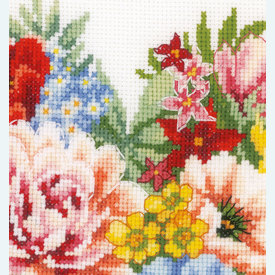 Heart of Flowers - handwerkpakket met telpatroon Vervaco |  | Artikelnummer: vvc-179766