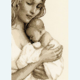 Mother and Child - borduurpakket met telpatroon Vervaco |  | Artikelnummer: vvc-147890