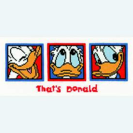 Donald Duck - Disney borduurpakket met telpatroon Vervaco  |  | Artikelnummer: vvc-70942