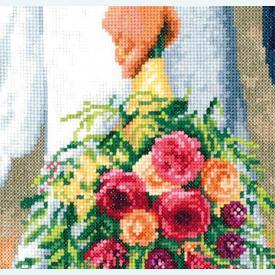 Bridal Bouquet - kruissteekpakket met telpatroon Vervaco |  | Artikelnummer: vvc-189338