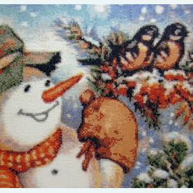 Kind Snowman - Borduurpakket met telpatroon Orcraphics |  | Artikelnummer: orc-2012-01-04