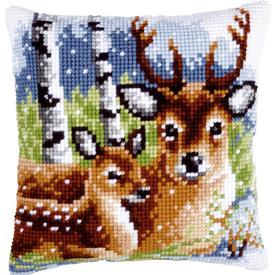 Deer Family - Vervaco Kruissteekkussen |  | Artikelnummer: vvc-147043