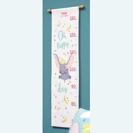 Growing Chart: Dumbo - Oh Happy Day - Disney borduurpakket met telpatroon Vervaco | Groeimeter Dumbo | Artikelnummer: vvc-178436
