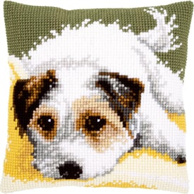 Little Dog Wagging its Tail - Vervaco Kruissteekkussen |  | Artikelnummer: vvc-156600