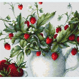Strawberries - borduurpakket met telpatroon Luca-S |  | Artikelnummer: luca-b2277