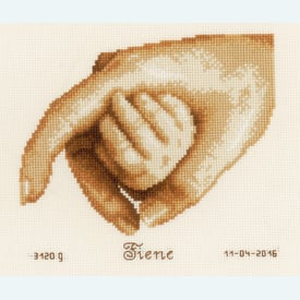 First Touch - borduurpakket met telpatroon Vervaco |  | Artikelnummer: vvc-156519