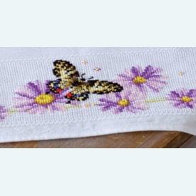 Butterflies and Purple Asters - borduurpakket met telpatroon Vervaco  |  | Artikelnummer: vvc-156337