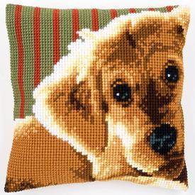 Sweet Puppy - Vervaco Kruissteekkussen |  | Artikelnummer: vvc-158555
