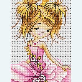 The Princess - borduurpakket met telpatroon Luca-S |  | Artikelnummer: luca-b1056