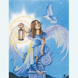Angel in the Night - borduurpakket met telpatroon Lanarte |  | Artikelnummer: ln-157488