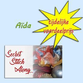 Secret Stitch Along 2021-2 Aïda - voordeelprijs - Vervaco borduurpakket met telpatroon | stof = Aïda | Artikelnummer: vvc-195759-aida