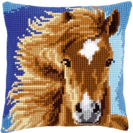Brown Horse - Vervaco Kruissteekkussen |  | Artikelnummer: vvc-149463