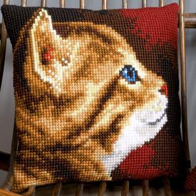 Kitten - Vervaco Kruissteekkussen |  | Artikelnummer: vvc-154895
